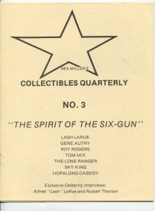 Rex Miller's Collectibles Quarterly #3 1979-Pulp character collectibles revie...