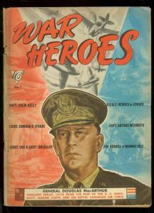WAR HEROES COMICS #1 1942-DELL COMICS-GEN MACARTHUR-WW2 VG