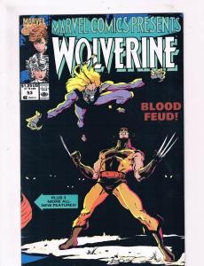 Wolverine #53 VF 1st Print Marvel Comic Book X-Men Sabertooth DE2