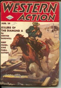 Western Action 8/1943-Double Action-KIllers of The Diamond A-violent pulp fic...