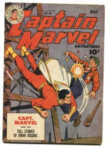 Captain Marvel Adventures #46 1945-Fawcett-Steamboat-final Mr Mind episode-VG