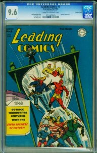 Leading Comics #8 CGC 9.6 1943- Double cover-  DC 0721665003