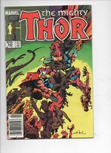 THOR #340 VF God of Thunder Beta Ray Bill 1966 1984, more Thor in store, Marvel