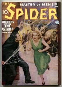 The Spider 6/1935-Hordes Of The Red Butcher pulp reprint 2006