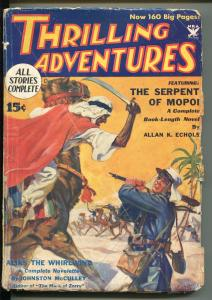 THRILLING ADVENTURES 12/1933-THRILLING-FOREIGN LEGION-JOHNSTON MCCULLEY-ZORRO-vg