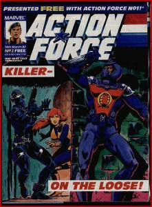 ACTION FORCE 2 BRITISH GI JOE COBRA SNAKEEYE