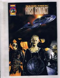 Lot of 3 Star Trek Marvel Comic Books #1 First Contact+7 11 Deep Space Nine AH10