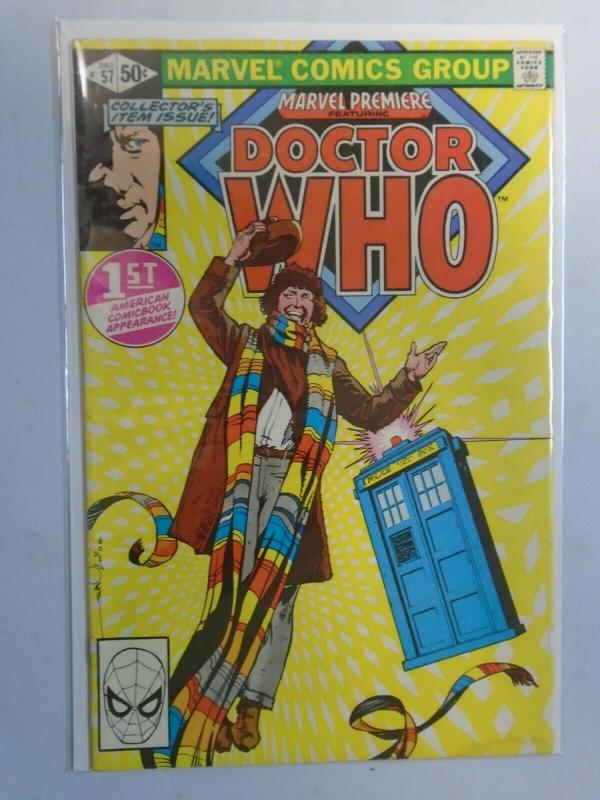 Marvel Premier #57 featuring Doctor Who 5.0 VG FN (1980)