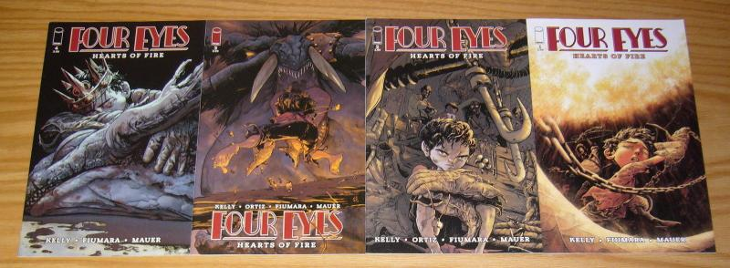 Four Eyes: Hearts of Fire #1-4 VF/NM complete series - joe kelly - max fiumara