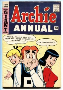 Archie Annual #14 1963- Betty & Veronica BLONDES vs. BRUNETTES- Iconic cover