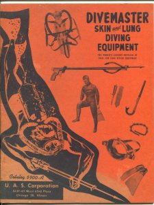 Divemaster Skin and Lung Diving Equipment Catalog 1960-euipment pix & prices-VG