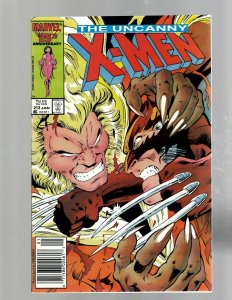 Uncanny X-Men # 213 NM- Marvel Comic Book Beast Angel Cyclops Magneto SM19