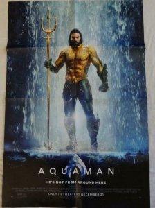 AQUAMAN Promo Poster , 27 x 39, 2018, DC, Unused more in our store 066