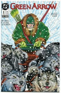 GREEN ARROW #8, NM, Mike Grell, Cullins, Martin, Seattle, 1988, more GA in store
