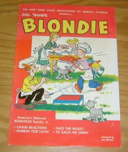 New York State Department of Mental Hygiene Presents Chic Young's Blondie #1 VG