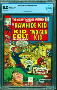 Mighty Marvel Western #14 CBCS VF 8.0 Off White to White