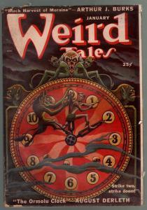 Weird Tales 1/1950-Canadian-pulp horror & fantasy-Matt Fox-Seabury Quinn-VG