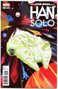 STAR WARS HAN SOLO #5 Variant, VF/NM, 2016, Harrison Ford, Millennium Falcon