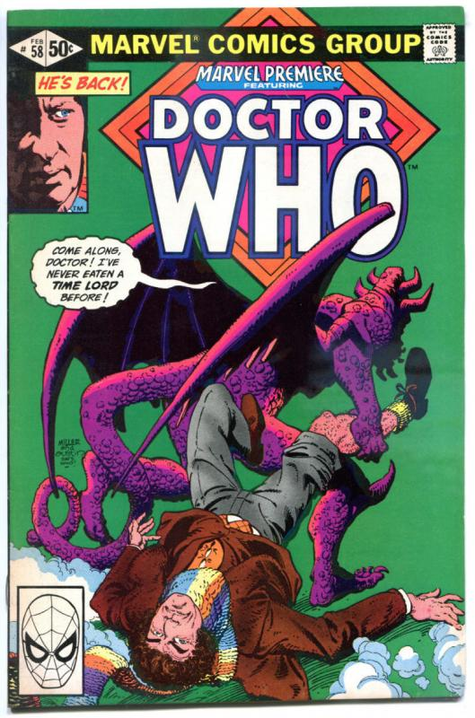 MARVEL PREMIERE - DOCTOR WHO #58, VF/NM, Tardis, 1980,Iron Legion, more in store