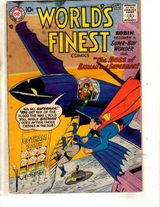 World's Finest Comics # 93 VG- DC Comic Book Robin Batman Superman Gotham BE1