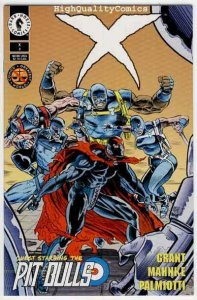 X #3, NM+, Jimmy Palmiotti, Grant, Dark Horse, Pit Bulls, 1994, more in store