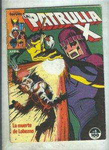 La Patrulla X volumen 1 numero 005: Mente fuera del tiempo (numerado 4 en tra...