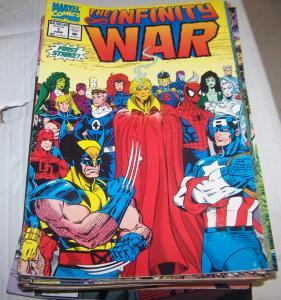 infinity  war # 1  thanos + avengers silver surfer warlock  marvel 1992 endgame