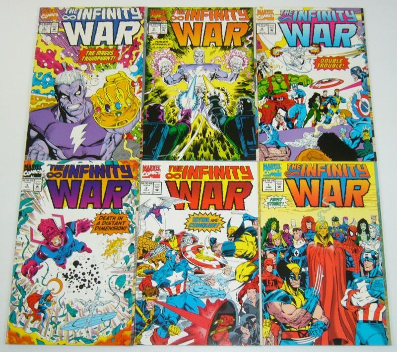 Infinity War #1-6 VF/NM complete series JIM STARLIN thanos & adam warlock set