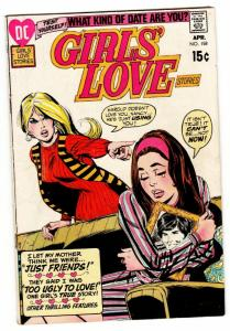 GIRLS' LOVE STORIES #158 comic book-DC ROMANCE-GREAT COVER