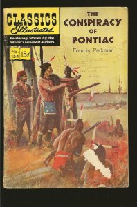 Classics Illustrated The Conspiracy of Pontiac Francis Parkman #154 (1960)