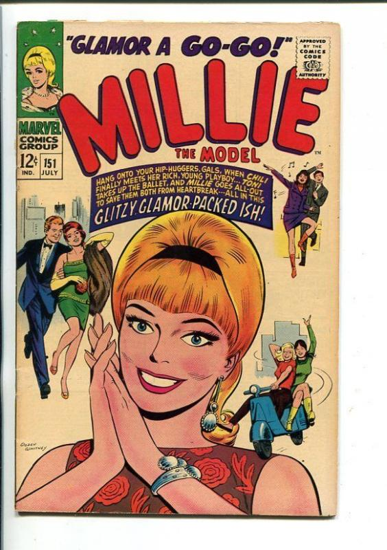 MILLIE THE MODEL-#151-PAPER DOLLS-GLITZY GLAMOUR-vf