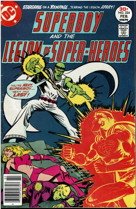 Superboy and the Legion of Super Heroes #224, 5.0 or better