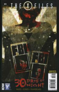 X-Files/30 Days Of Night #3 VF/NM; WildStorm | save on shipping - details inside