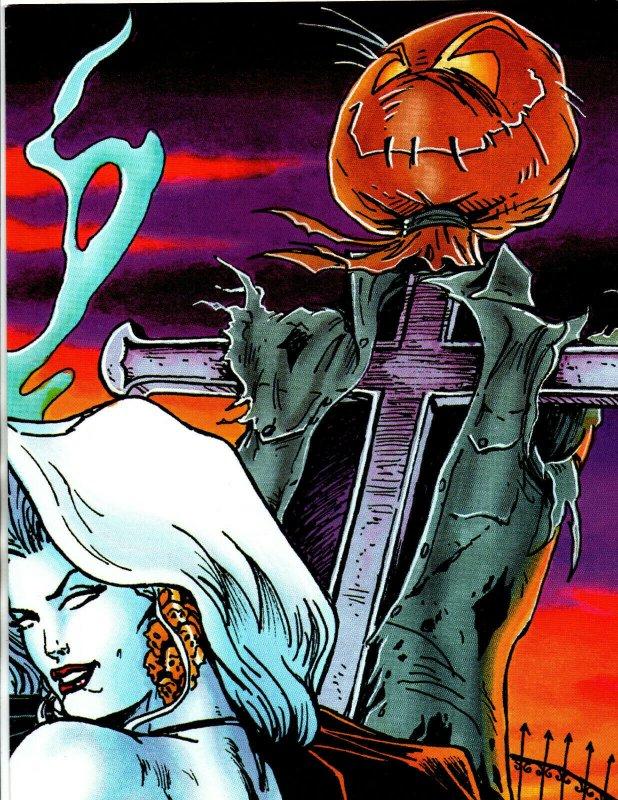 Lady Death Promo Poster - Steven Hughes - Overstreet Fan 18 - FOLDED