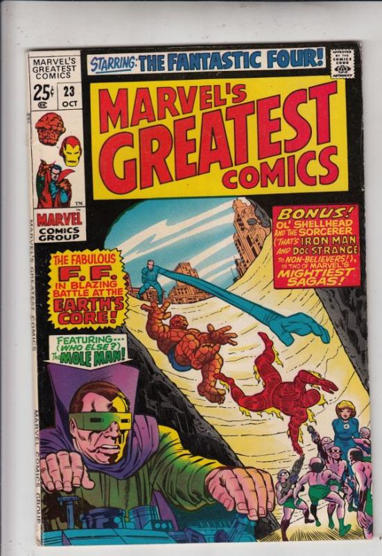 Marvel's Greatest Comics #23 (Oct-69) VF/NM High-Grade Fantastic Four, Captai...