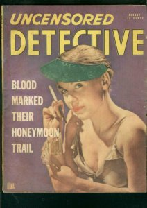 UNCENSORED DETECTIVE AUG 1948-SPICY POKER COVER-CARDS   VG