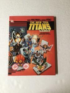 The New Teen Titans Games Original Graphic Novel Near Mint Hc Hardcover Oversiz