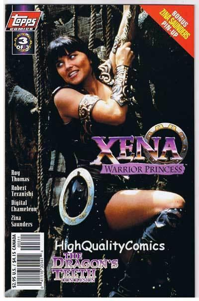 XENA WARRIOR PRINCESS Dragon 3, NM+, Lucy Lawless,1997, more in store