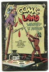 Comic Land #1 1946- SANDUSKY & THE SENATOR- VG