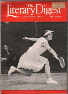 Literary Digest 8/24/1935-Helen Wills Moody tennis cover-Wiley Post-Clark Gable-