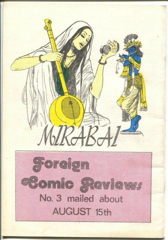 Foreign Comics Review #2 1973-Danish publication-TinTin-Rolf Gohs-FN