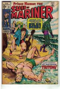 SUBMARINER 18 VF Oct. 1969 NAMOR AND TRITON VS ALIENS!