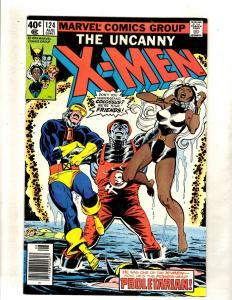 (Uncanny) X-Men # 124 FN Marvel Comic Book Angel Beast Wolverine Phoenix JF15