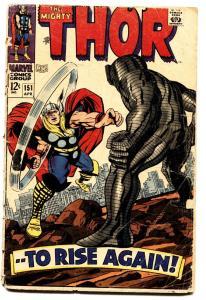 THOR #151 comic book-1968-JACK KIRBY-MARVEL