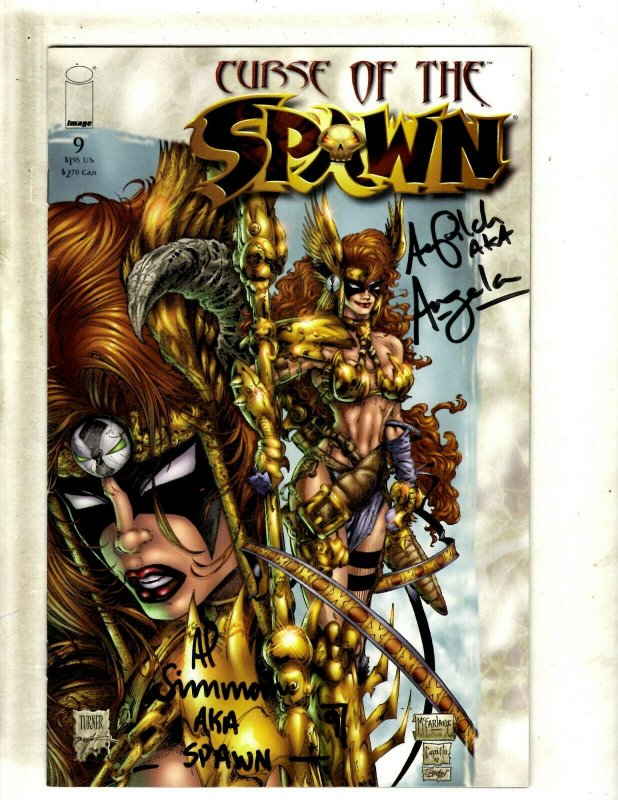 Curse Of The Spawn # 9 VF/NM Image Comic Book Signed 2X Spawn Angela J462