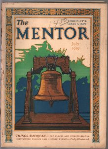 Mentor 7/1929-Liberty Bell-Jefferson Bible-Geroge Washington mentor-G+