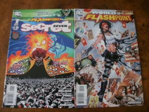 2 DC FLASHPOINT Comic Book: #1 SECRET SEVEN #2 WORLD OF FLASHPOINT