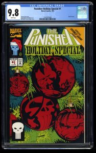 Punisher Holiday Special #1 CGC NM/M 9.8 White Pages