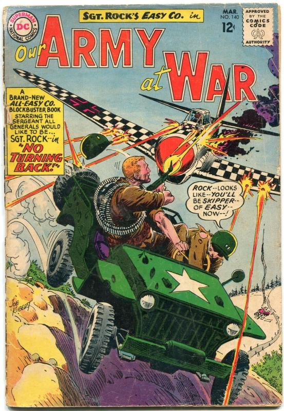 OUR ARMY AT WAR #140 1964-D.C. WAR SILVER-AGE-SGT. ROCK- G