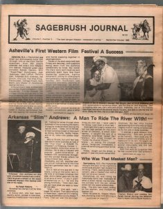 -Sagebrush Journal #3 9/1986-Clayton Moore-Johnny Mack Brown-FN